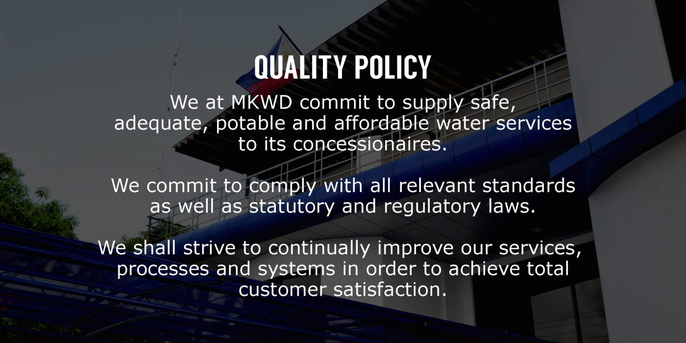 quality policy - metro kalibo water district