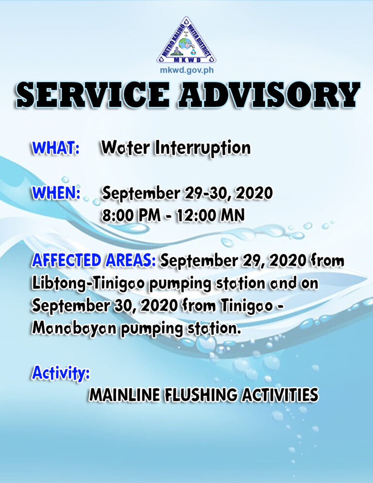 Mainline Flushing Activities (09-29-20)